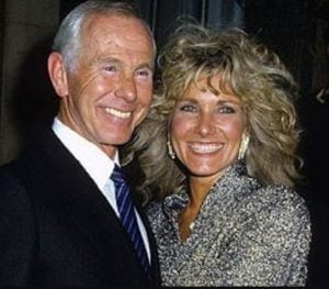 Alexis Maas with her ex-husband, Johnny Carson during an event