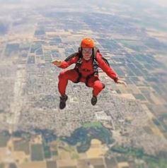Patty Mayo's sky diving