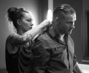Stephanie Luby with her ex-husband, Corey Taylor