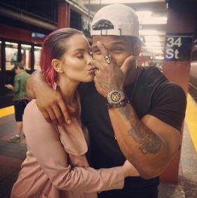 Terron with his girlfriend, Pelinyc