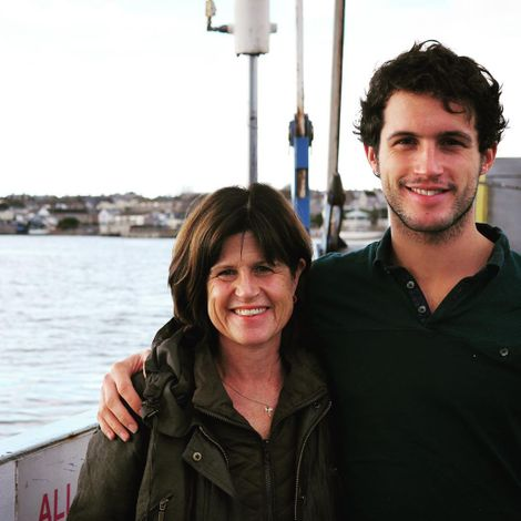 Rob Heaps with his mom