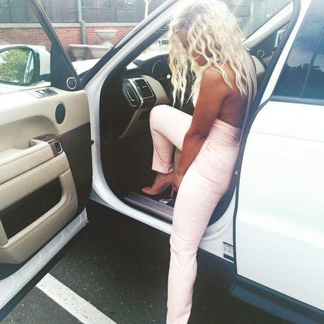Deen Kharbouch inside her car