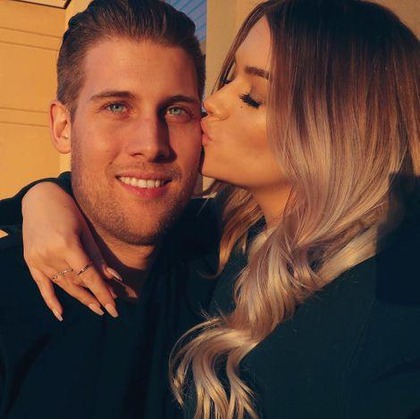 Samantha Ravndahl with her boyfriend