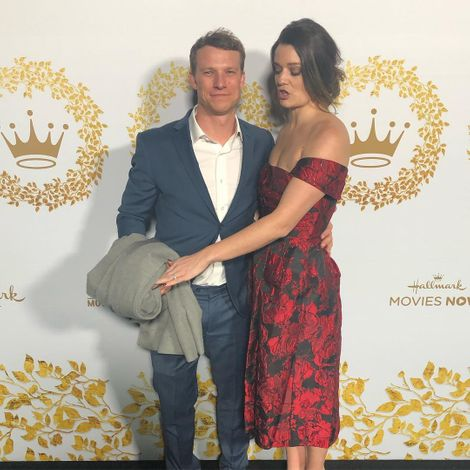 Kimberly Sustad and her husband attending a red carpet