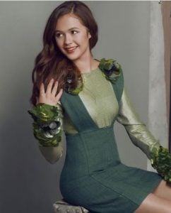 Olivia during her photoshoot with Posh Kids Mag