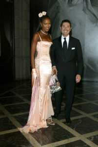 Naomi Campbell and Matteo Marzotto