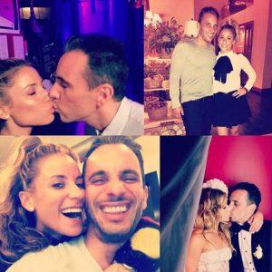 Photo of Sebastian Maniscalco and his wife, Lana Gomez.
