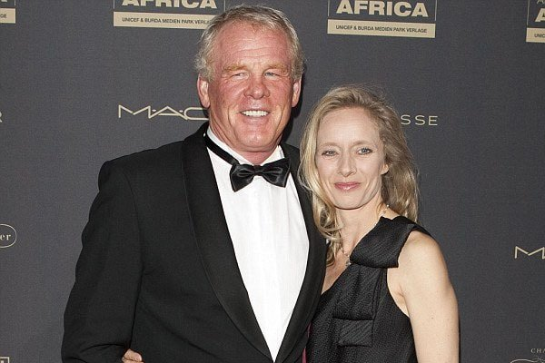Nick Nolte with her husband