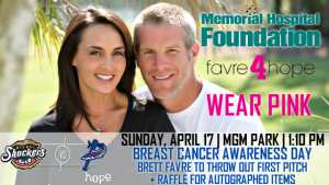 Shuckers host Favre 4 Hope Breast Cancer Awareness Day at MGM Park on Sunday