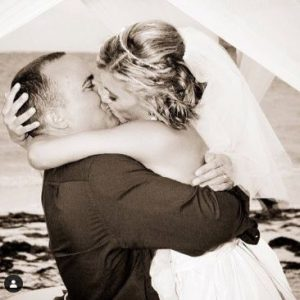 Heather posted her wedding picture on the day of their 7th Marriage Anniversary