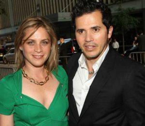 Justine Maurer with her husband, John Leguizamo