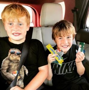 Kim shares the picture of her two sons, Beau and Blanton