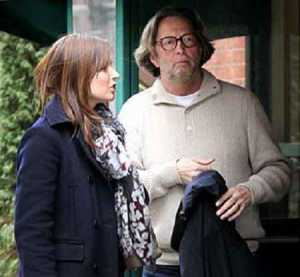 Melia McEnery and Eric Clapton