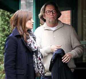 Melia McEnery and Eric Clapton