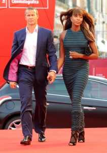 Naomi Campbell And Vladislav Doronin Arriving At The 'Miral' Premiere