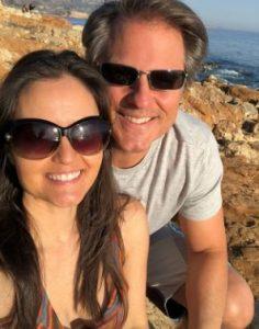 Scott Sveslosky with his wife, Danica McKellar