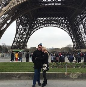 Wayne celebrating the birthday of his wife in Torre Eiffel, Paris