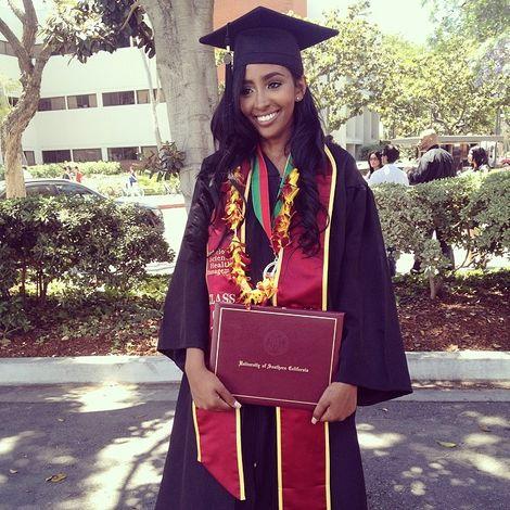 Yodit Yemane on her graduation day