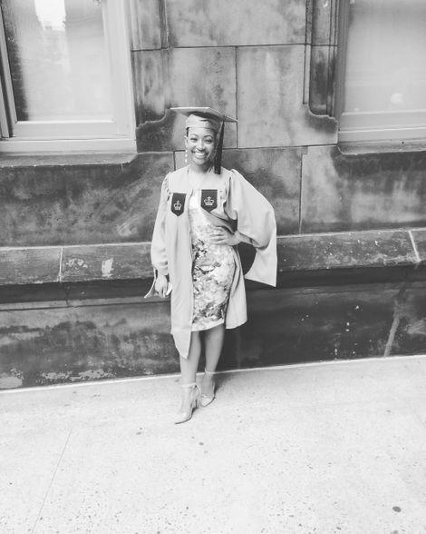 Aleisha Allen's picture on her graduation