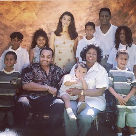 Stevanna Jackson's childhood picture with her family