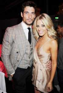 It's All Fired Up! Mollie King and boyfriend David Gandy, pictured together in November