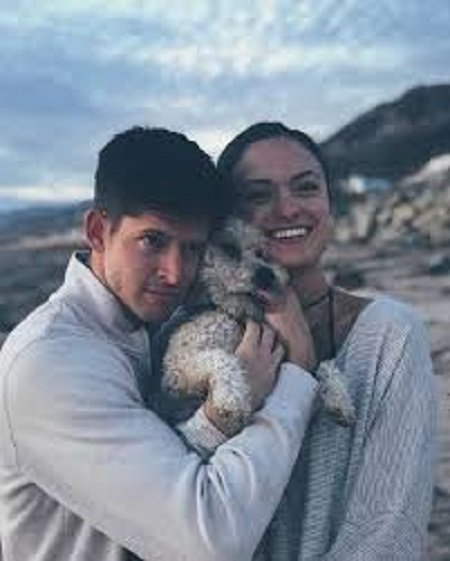 Hunter March and his girlfriend