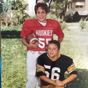 Jeff Mauro during his young age