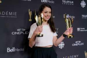 Tatiana Maslany at the 2017 Canadian Screen Awards at Sony Centre