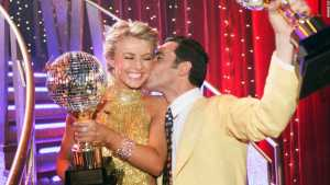 As as pro dancer on the show, Hough partnered with Indianapolis 500 champion Helio Castroneves