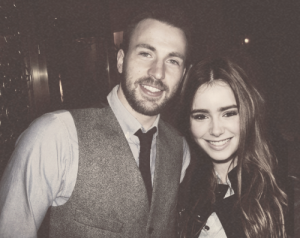 Chris Evans and Lily Collins #RelationshipGoals
