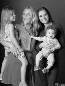 Busy Philipps with daughter Birdie Leigh Silverstein (left) and and Linda Cardellini with daughter Lilah-Rose Rodriguez.