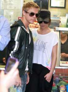 Cheryl Cole And Derek Hough Getting Lunch At Subway
