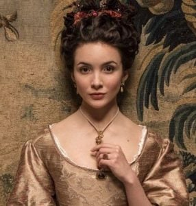 Maddison's character of Duchesse de Cassel in Versailles TV series
