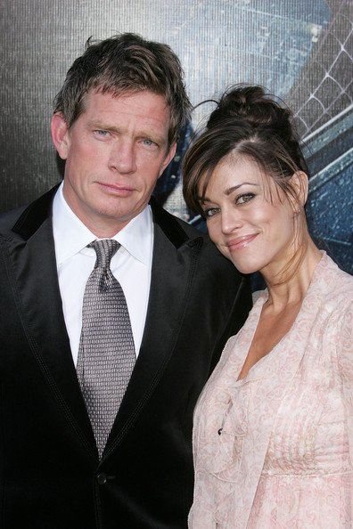 Thomas Haden Church & wife Mia at Premiere Of Spider-Man 3.