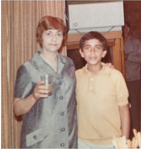 Ric Pipino's childhood picture with his mother