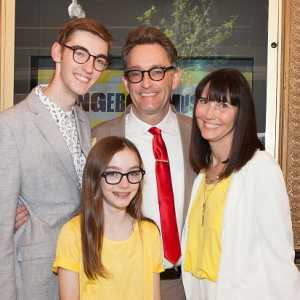 Tom Kenny, Jill Talley with their Children