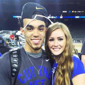 Tyus Jones and Alyssa Goehner