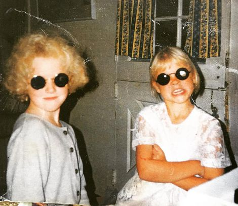 Lily Cowles with her sister