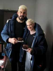 Robert Maillet and his Wife, Laura Eaton