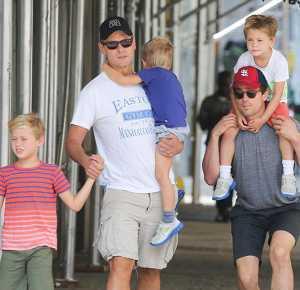 Matt Bomer & Simon Halls with their Kids