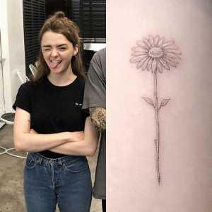 flower on her bicep