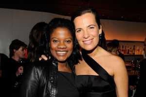Zoe Jackson with her friend