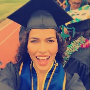 Sofia Pernas on the day of her graduation from the University of California at San Diego