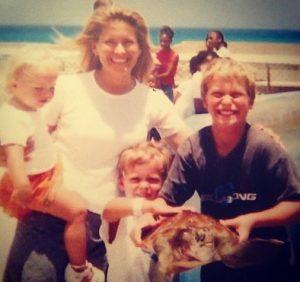 Suzanne Snyder with her children