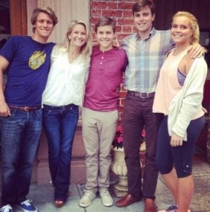 Suzanne wishes the 16th birthday to her son, George with her three other kids