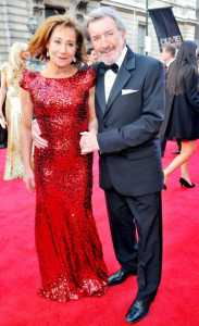 Zoe Wanamaker with her Husband, Gawn Grainger in an award ceremony