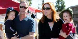 Marcia Cross & Tom Mahoney with their Kids