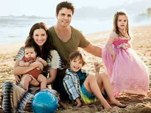 Nathan West & his Wife, Chyler Leigh with their Children