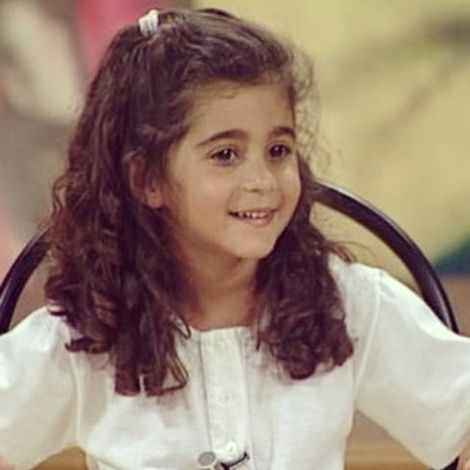 Alba Flores' childhood picture