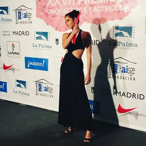 Alba Flores attending an events
